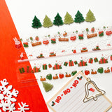 christmas bunny presents gifts hot chocolate drinks yule sticker sheet