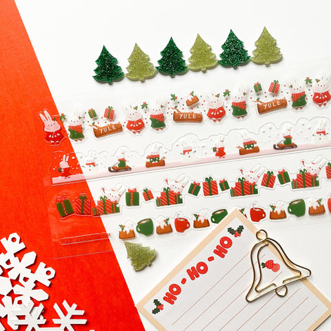 christmas cake hohoho holiday notepad