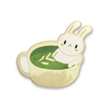 bunny matcha tea bath soak spa note notepad