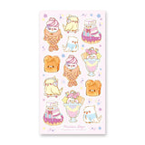 cute pastel bird dessert ice cream sticker sheet