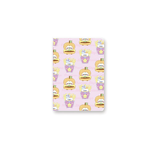 burger and fries mini notebook