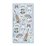 butterfly opera music masquerade ball sticker sheet