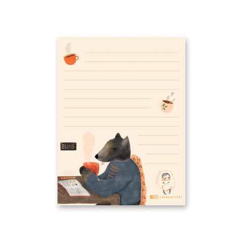 Winter Wolf Notepad