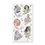 mermaid girls sea sticker sheet