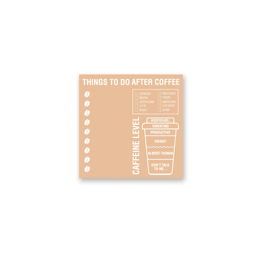 coffee cup to do check list notepad