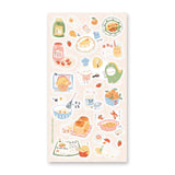 chicken costume chef sticker sheet