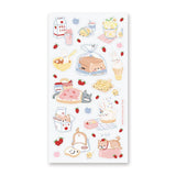 bread picnic shiba cat sticker sheet