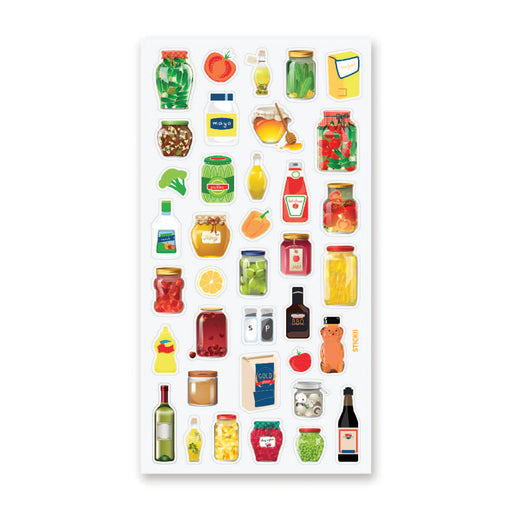 condiments fridge jars food sticker sheet