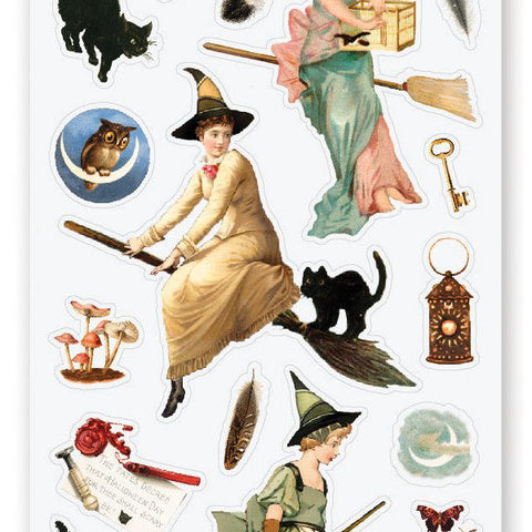 witches broomsticks sticker sheet