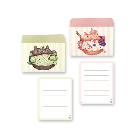 Cream Puff Kitty Mini Letterset