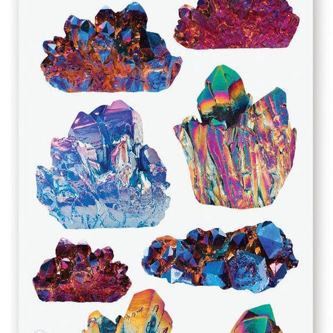 gem crystal rock sticker sheet