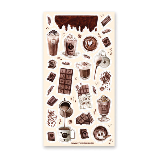 chocolate drink hot sticker sheet