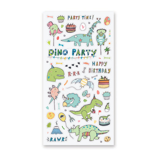 dinosaur birthday celebrate sticker sheet