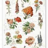 flowers wild garden sticker sheet