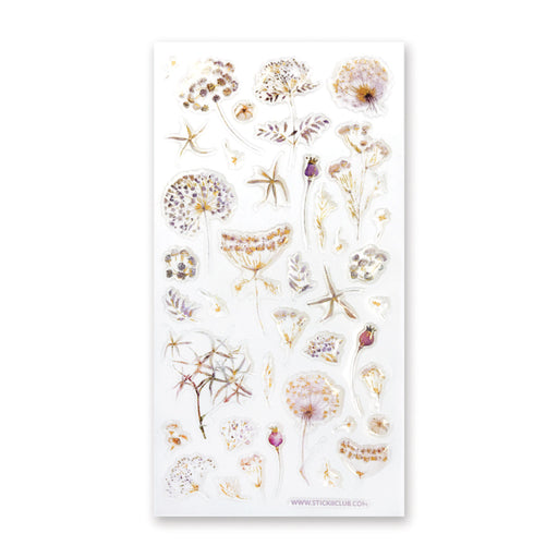 epoxy clear jelly dried lavender floral flowers petals sticker sheet