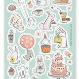balloon party birthday sticker sheet