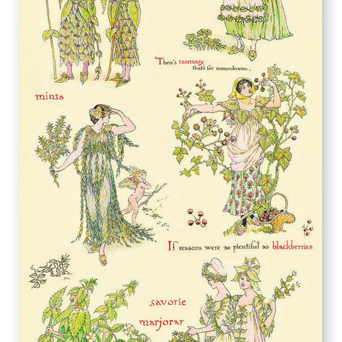 garden nature plant fairy sticker sheet