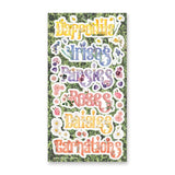 floral names title label sticker sheet