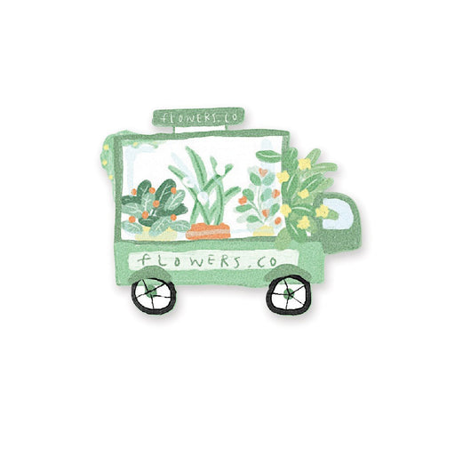 plant flowers cart shop note notepad