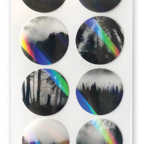 holo dark forest sticker sheet