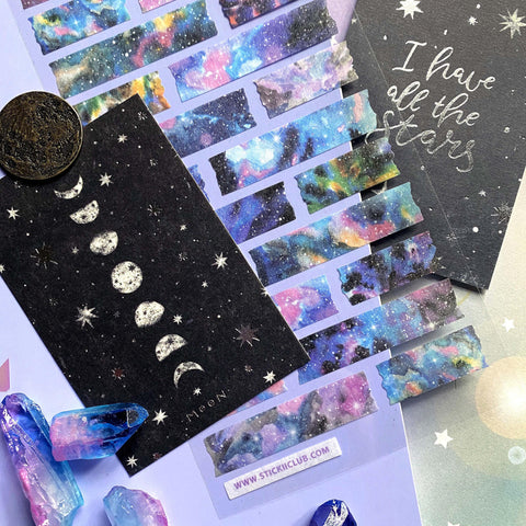 moon star notecard
