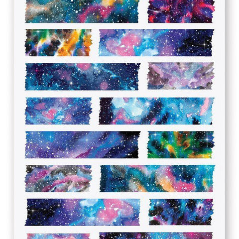 space stars galaxy washi sticker sheet