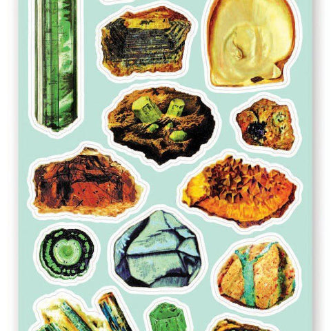 gem rock crystal sticker sheet