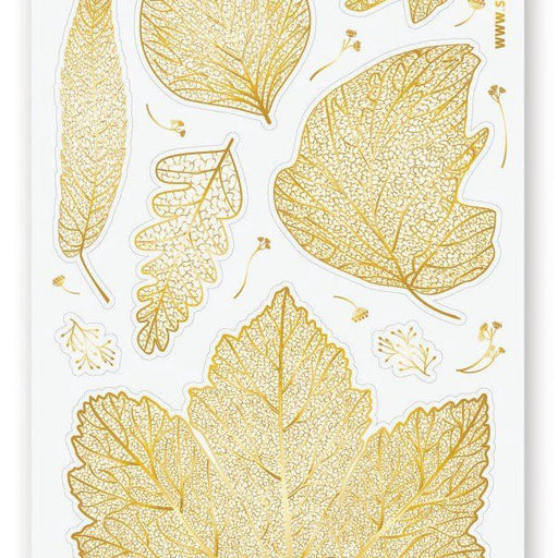 gold leaves sticker sheet