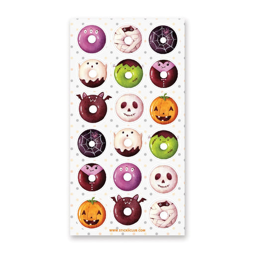 halloween donuts sticker sheet