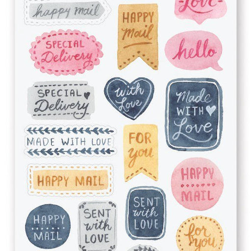 letter mail love sticker sheet