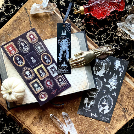 victorian spooky women ghost haunted sticker sheet