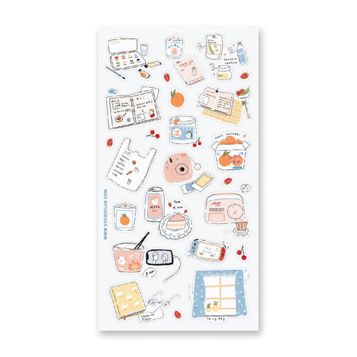 me time fun day art hobby sticker sheet
