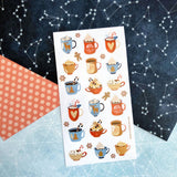 hot chocolate drink christmas holiday sticker sheet
