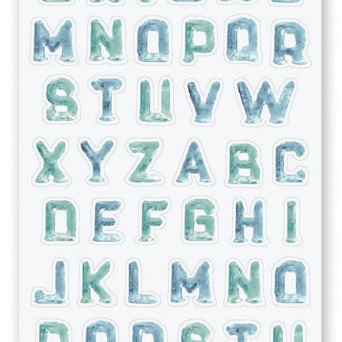 frozen ice letters alphabet sticker sheet