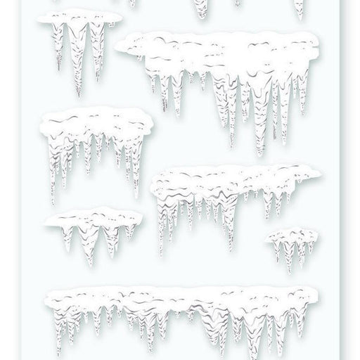 ice snow sticker sheet