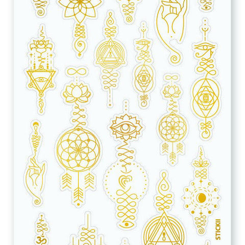 gold detail sticker sheet