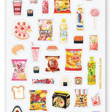 snacks convenience store japan drinks sticker sheet