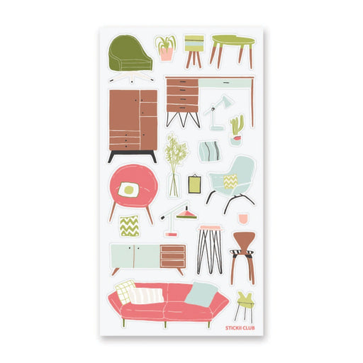 furniture home desk sticker sheet