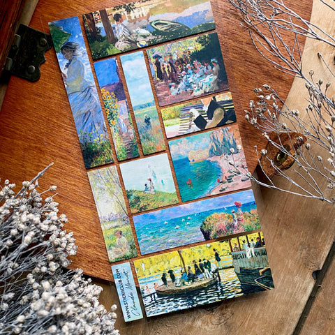 painting monet park art sticker sheet
