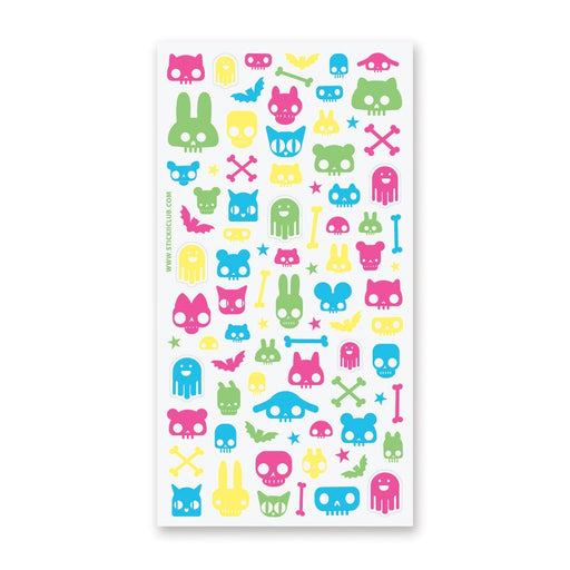 animal skull punk sticker sheet