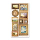framed antique painting art museum sticker sheet