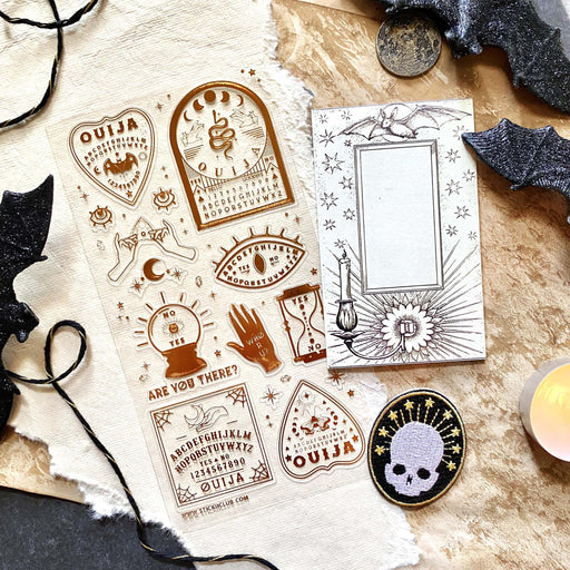 ouija fortune telling psychic sticker sheet