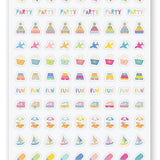 beach summer fun sticker sheet