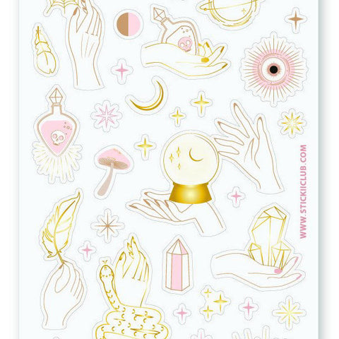 magical psychic fortune sticker sheet