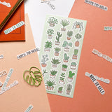 note to self calligraphy hand lettering stationery sticker flakes