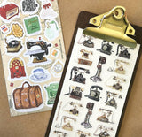 victorian vintage telephone rotary phone sticker sheet