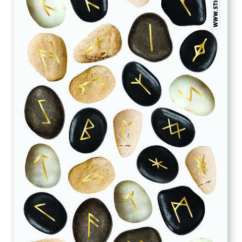 stone pebble magical sticker sheet