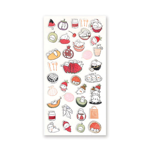 seals summer fruit picnic fun sticker sheet