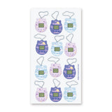 keychain game tamagotchi sticker sheet