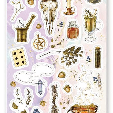 witch brew magic sticker sheet